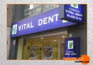 Rótulo luminoso led clinica dental