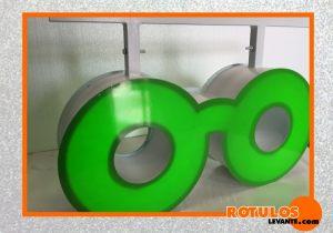 Banderola forma de gafa