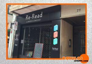 Rotulación librería fachada