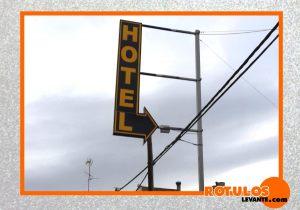 Rótulo led hotel con forma