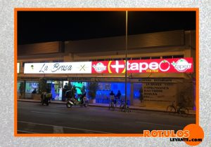 Rótulo luminoso led +tapeo.