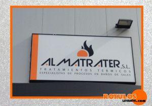 Rótulo luminoso led empresa  almatrater